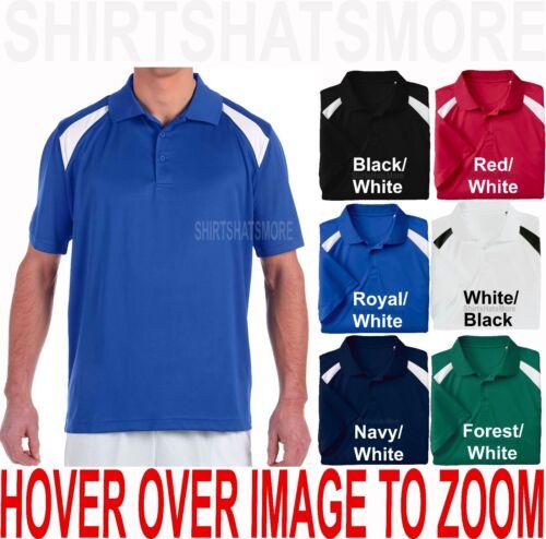 BIG MENS Polo Shirt Moisture Wicking Dri Fit Polytech 2XL 3XL 4XL 5XL 6XL NEW
