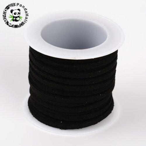 3mm 4mm 5mm 5m//Rollo De Cable de gamuza sintética de color mezclado Hazlo tú mismo Hilo De Encaje Cuerda de Cuero