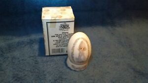 Precious-Moments-1994-255696-The-Lord-Is-My-Shepherd-Easter-Egg-W-Stand-amp-Box