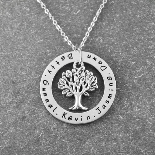 Custom family tree necklace personalized name necklace Mother Mom Gift for Xmas