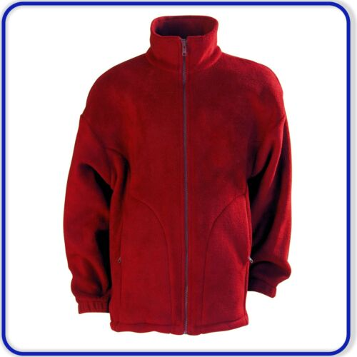 New Good Quality Polar Fleece Jacket with Black Zip Boys Girls Ages 3-13 4201