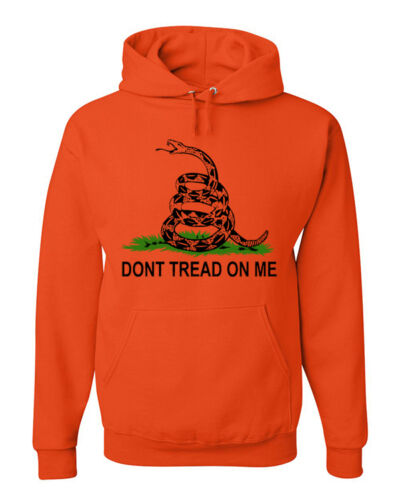 Don/'t Tread On Me Hoodie Patriotic Political Shirt Gadsden Flag American Flag