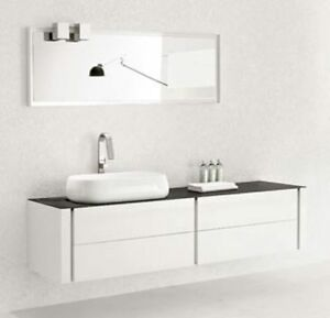 Bathroom Vanity Modern Bathroom Vanity Single Sink Blanc
