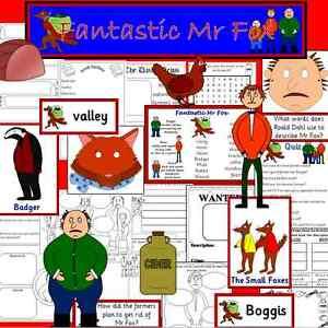 Details about FANTASTIC MR FOX- teaching resource on CD- KS1/ KS2- Roald  Dahl Day