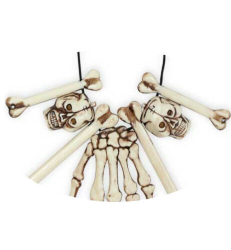 KarnevalsTeufel Halskette Hand Knochen Totenkopf Skull Bones Voodoo 124886113