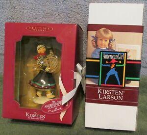 American-Girl-Kirsten-Larson-Mini-Doll-amp-Hallmark-Keepsake-Ornament-Mint-In-Box