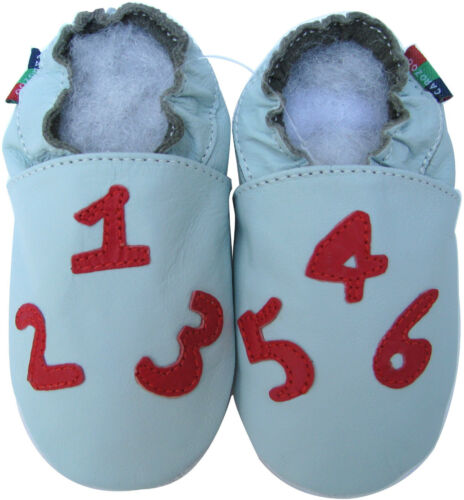 shoeszoo number light blue 3-4y S new soft sole leather toddler shoes