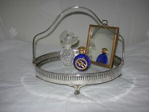 Vintage Victorian Pierced Silver Footed Basket~Vanity Tray~Serving-Display Stand