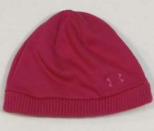75fc62f7bc8 Image is loading Under-Armour-Signature-Fleece-Lined-Pink-Knit-Beanie-