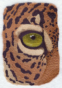 Embroidered Short-Sleeved T-Shirt - Eye of the Jaguar H2524 Sizes S - XXL