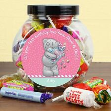Me to You Personalised Candy Girl Sweets Swizzels Jar - Tatty Teddy Bear