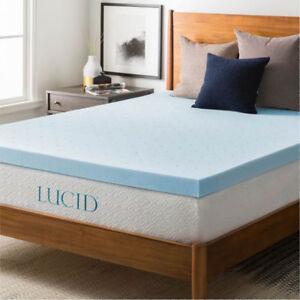 6 inch memory foam mattress topper queen LUCID 3‑inch GEL Memory Foam Mattress Topper Queen LU30QQ30GT   eBay 6 inch memory foam mattress topper queen