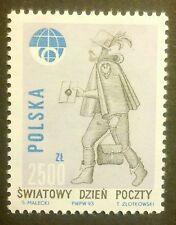 POLAND STAMPS MNH Fi3321 Sc3174 Mi3469 - World Post Day, 1993, clean