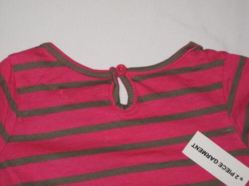 NWT DKNY 2pc set 3//4 sleeve shirt GIRL size 12M pink
