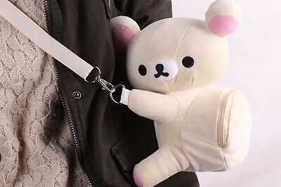 rilakkuma san-x shoulder bag white bear plush bag new