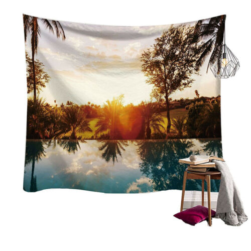 Nature Seaside Scenery Tapestry Wall Hanging Mat For Living Room Bedroom Decor