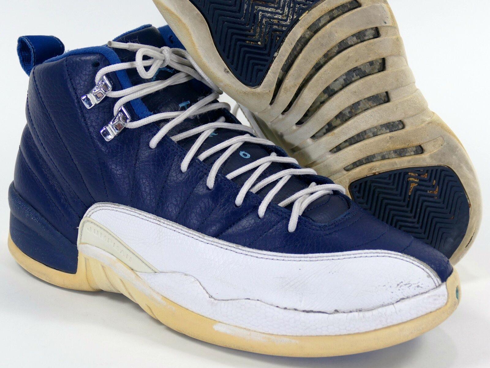 Jordan XII Sz 9.5 Obsidian/University Blue - air retro 2012 xiii 12 french navy Cheap women's shoes women's shoes