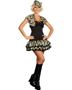 Morris-Costumes-Women-039-s-Sexy-Military-Soldier-Girl-Costume-M-RL5966MD