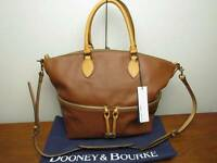 Dooney & Bourke Natural Smooth Leather Satchel With Crossbody Strap$378