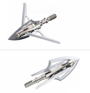 6PCs Stainless Steel 4-blade Mechanical Broadhead Bow Archery Hunting Arrowheads