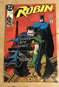 SIGNED-Tom-Lyle-Lot-x-5-ROBIN-1-5-Mini-Series-DC-Comics-1991-w-Poster-HIGH-GRADE