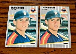 1989 Fleer #353 Craig Biggio RC - Astros HOF  (2)