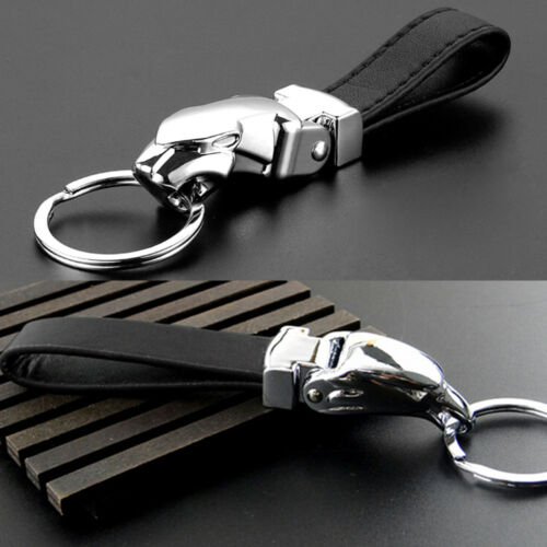 dekoration leopard kopf schlüsselanhänger metall leder schlüssel ring