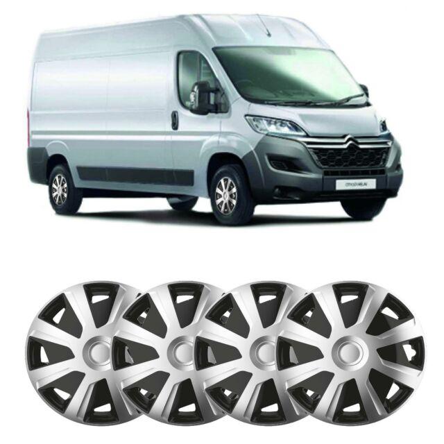 UKB4C Set 4 x Deep Dish ommercial 16 Wheel Trims Hub Caps fits Transit Custom