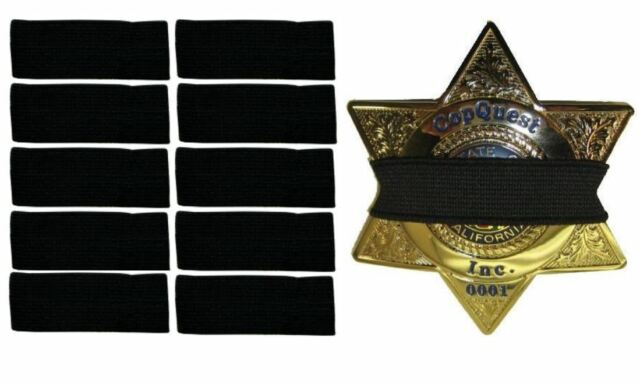 IM Survival Thin Blue Line Mourning Band Stripe Black Police Officer Badge Shield Funeral Honor Guard Strap 1//2-3 Pack