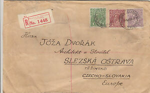 Stamps-Australia-KGV-on-1926-registered-cover-to-Czechoslovakia-wax-seals-back