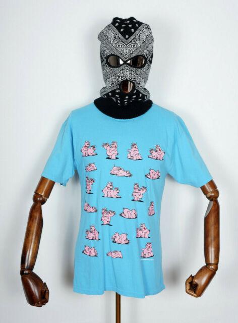 Huf worldwide Skateboard t-shirt Tee Makin Bacon Greek blue IN M