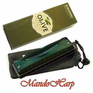 Suzuki-Harmonica-C-20-Olive-KEY-OF-C-NEW