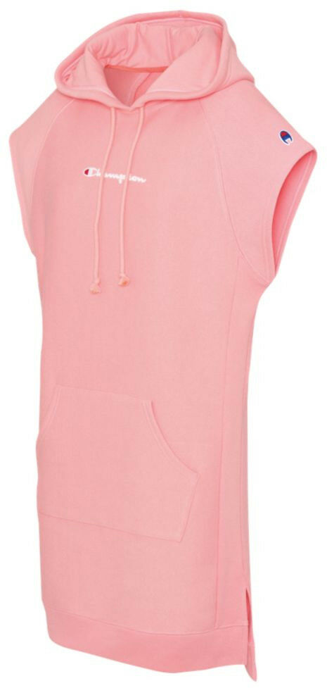Champions Women's REVERSE WEAVE HOODED DRESS Pink WL779-549727-7CY c