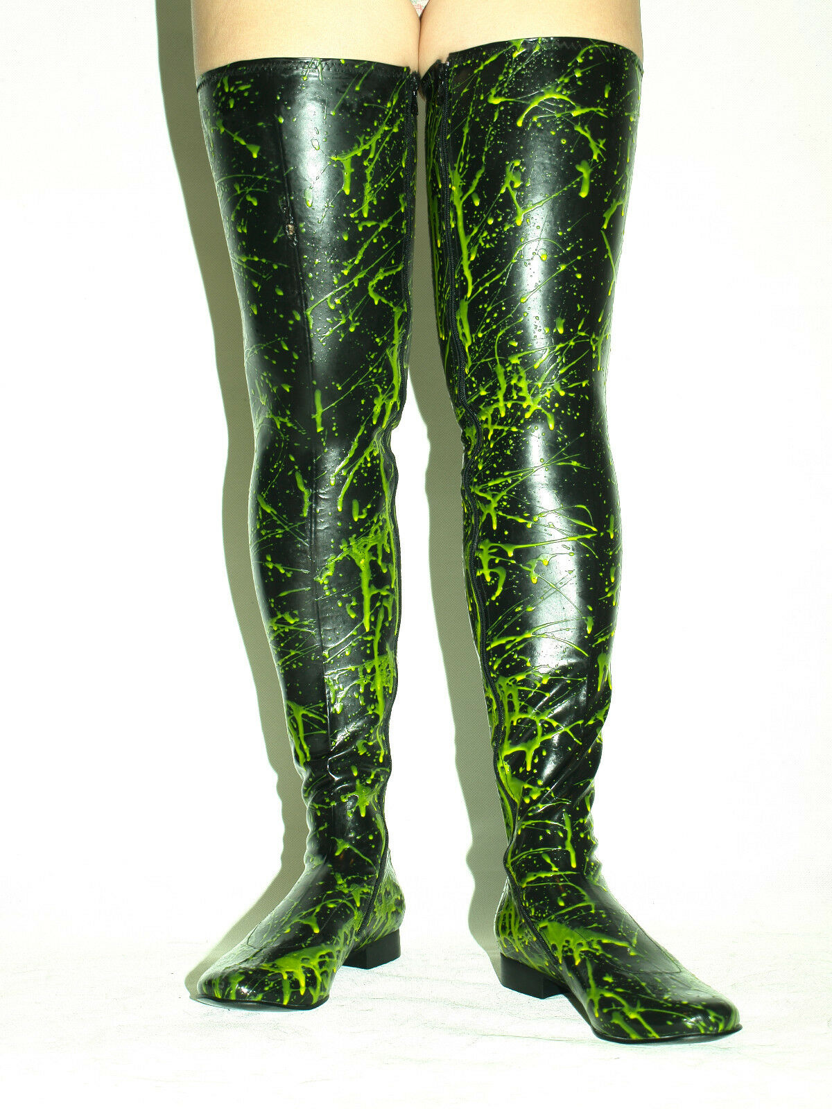 LATEX RUBBER 100%    BOOTS  SIZE 6-16 HEELS-0' -                 -PRODUCER  POLAND d0e29f