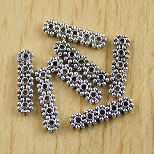 25pcs Tibetan Silver Bali 5 HOLE Spacer Bars h0241