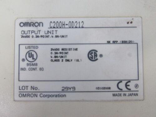OMRON OUTPUT UNIT C200H-OD212