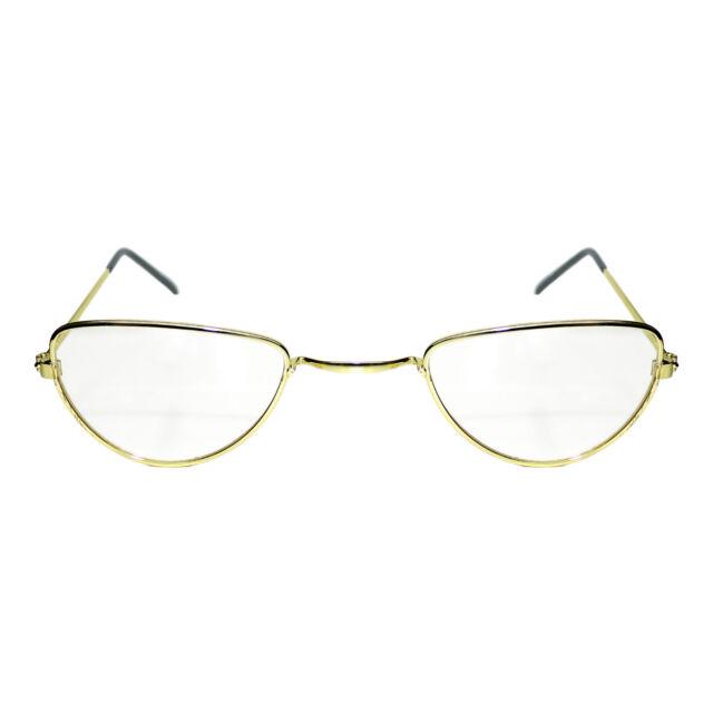 NEW HALF MOON GRANNY JUDGE TEACHER SANTA SUIT FANCY DRESS COSTUME GLASSES SPECS