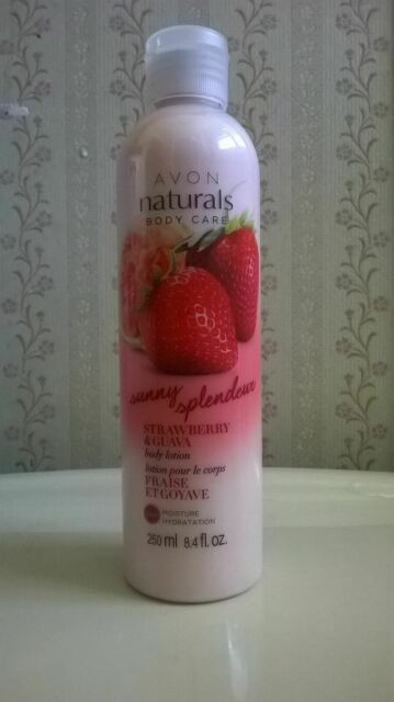 Avon Naturals Body Lotion Strawberry And Guava Scent For Sale Online Ebay