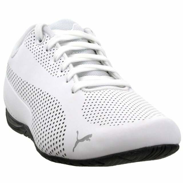 Puma Drift Cat Ultra Reflective Lace Up Sneakers  Casual   Sneakers White Mens -