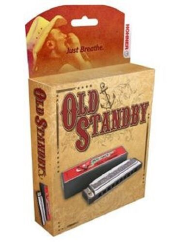 "HOHNER 34BX-D OLD STANDBY HARMONICA /""G/"" HARP BRAND NEW IN PACK SALE"