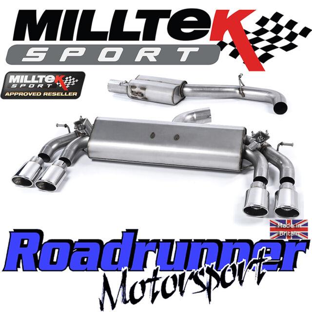 "Milltek Audi S3 8v 3-Door Exhaust 3"" Cat Back Resonated Polish Ovals SSXAU400 EC"