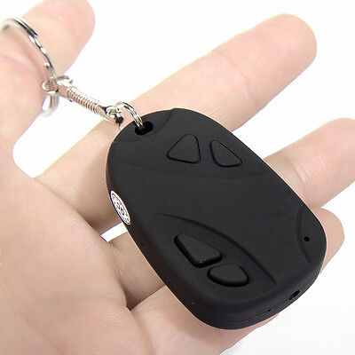 Mini Car Key Chain Cam Video Recorder Covert Hidden Pinhole Spy Camera Security