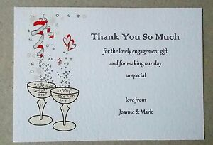 personalised engagement thank you cards 5 10 15 20 25 30 35 40 45 50