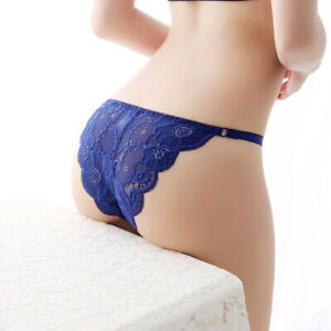 Women-Transparent-Underwear-G-string-Lingerie-Panties-Thong-Brief-Lace-Intim-9H