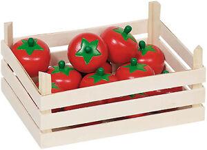 goki holzkiste mit tomaten kiste holztomaten marktstiege kaufmannsladen zubeh r ebay. Black Bedroom Furniture Sets. Home Design Ideas