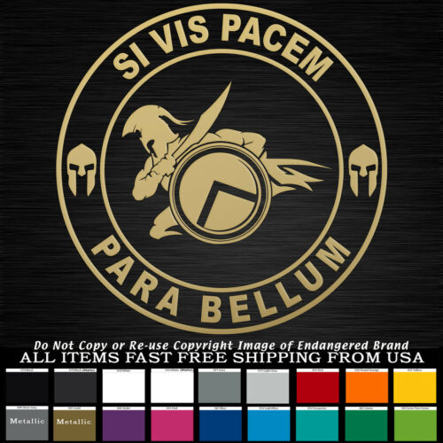 Si Vis Pacem Punisher Star Round If You Want Peace Prepare fo War Sticker Decal