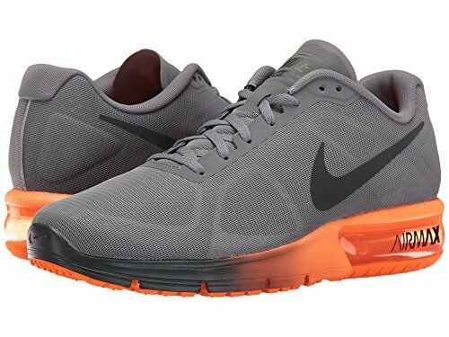 Nike Men's Air Max Sequent Running shoes Cool Grey Hematite Total orange Size 9.5