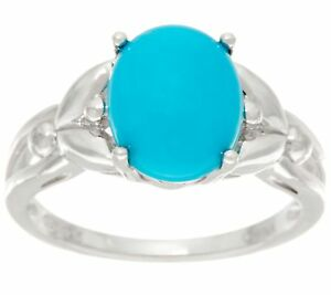 OVAL-SLEEPING-BEAUTY-TURQUOISE-STERLING-SILVER-POLISHED-RING-SIZE-6-QVC-89