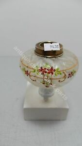 SMALL-ART-NOUVEAU-FROSTED-GLASS-ENAMELLED-TANK-FOR-OIL-PARAFFIN-OR-KEROSENE-LAMP