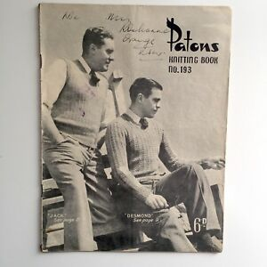 Patons-Knitting-Book-No-193-11-Patterns-for-Men-Including-Socks-Jumpers-Vests